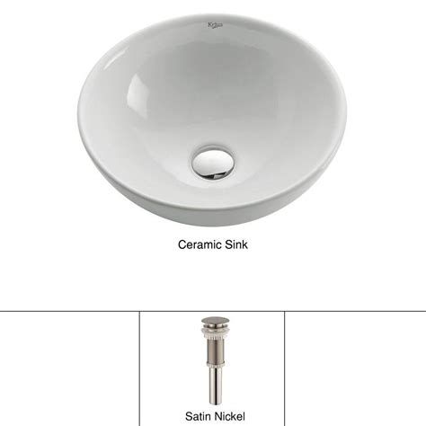 kraus soft ceramic vessel bathroom sink in white