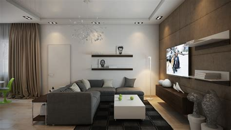 Accent Pieces Living Room by Modern Living Room Interior Design Ideas