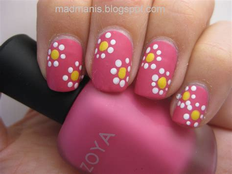 easy nail art using dotting tool mad manis beginner nail art using your dotting tool