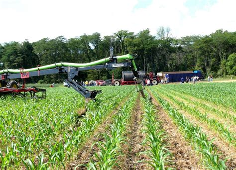 swing set rows innovations in manure application equipment omafra field