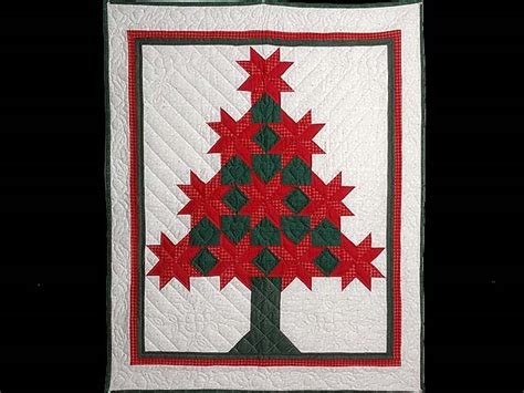 patchwork christmas tree quilt terrific well made amish