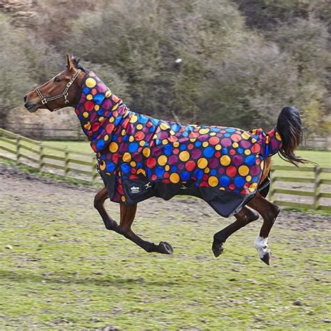 equestrian clearance turnout rugs 200g spotty mediumweight turnout rug combo neck offer fast tack direct