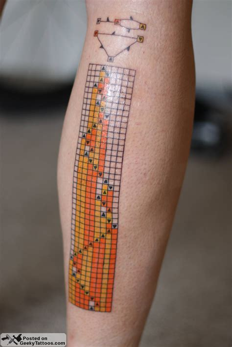 computer tattoos wolfram 2 state 3 color turing machine geeky tattoos