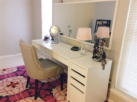 Dressing Table Idea Ikea Micke Desk And Drawer As Vanity Dressing Table Idea Minimalist Desk Design Ideas