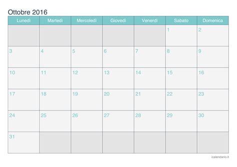 Calendario Ottobre Calendario Ottobre 2016 Da Stare Icalendario It