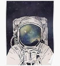 Home Decor Canvas Prints by Astronaut Drawing Posters Redbubble