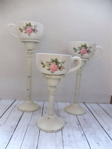etsy vintage home decor tea cup candleholders tea light votive candles vintage