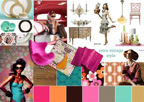 fashion design mood board moodboard inspiration fashion design retro vintage