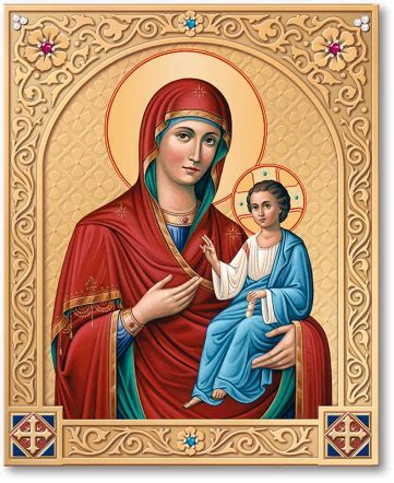 Blessed Virgin Mary Icons: Ornamental Shrine of the Virgin