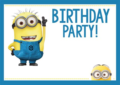 birthday themes minions minions birthday party invitations www pixshark com