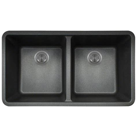 black composite kitchen sink polaris sinks undermount composite 33 in double basin