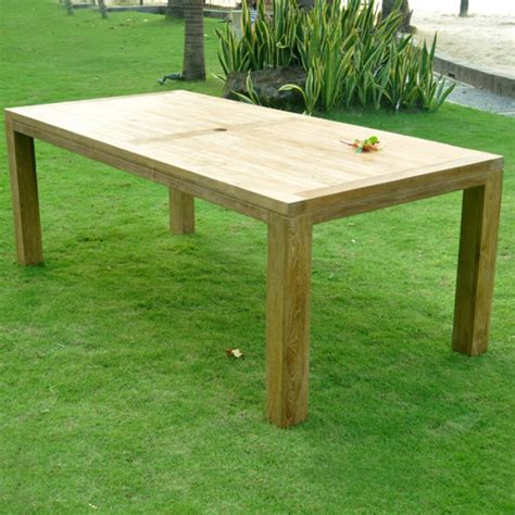 quot cornwal quot teak outdoor farm table rectangular