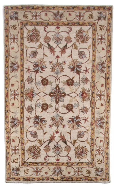 Beautiful Area Rugs Beautiful Traditional Tufted Wool Area Rug Beige Brown 5x8