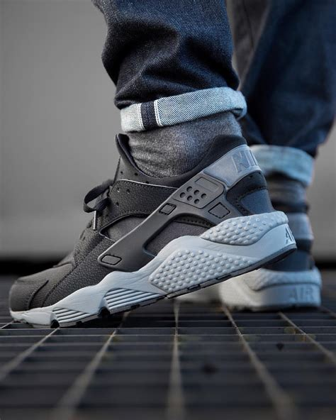 Nike Air Huarache Black Grey nike air huarache black grey kicks daily