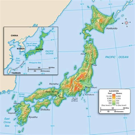 japan geography map geography in japan map