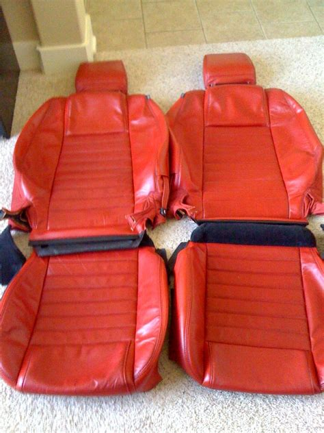 ford mustang leather seat covers 2005 leather seat covers and mats the mustang