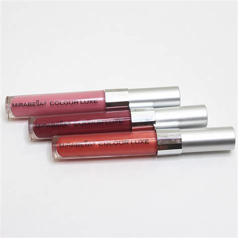 Mirabella Lipstick Glossy mirabella colour luxe lip gloss in glossed and sleek citizens of