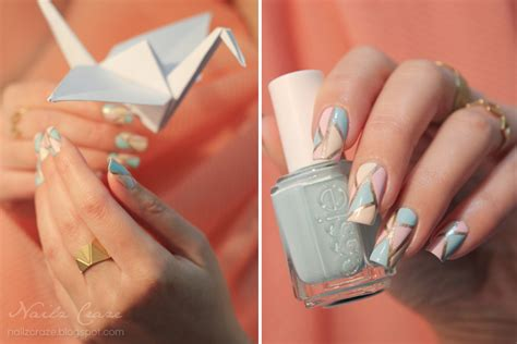 How To Make Origami Nails - jewelry nail origami in pastel nailz craze