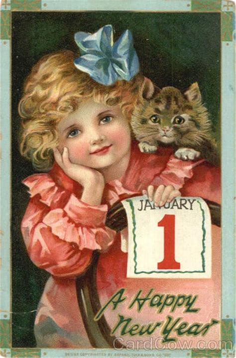 a happy new year 1924 vintage greeting card zazzle new year card vintage cat what will matter