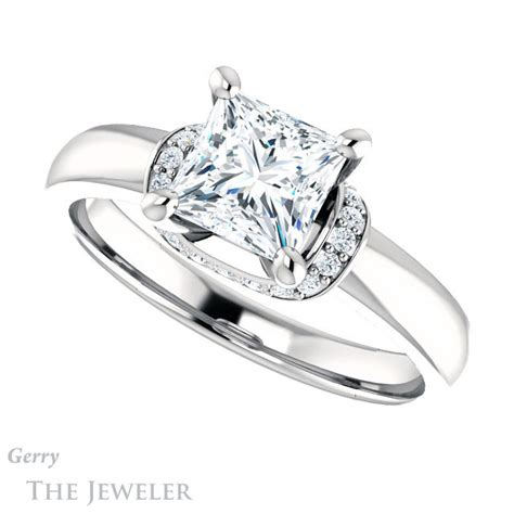 princess cut forever brilliant moissanite engagement ring