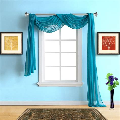 warm home designs blue teal sheer curtains amp teal scarf