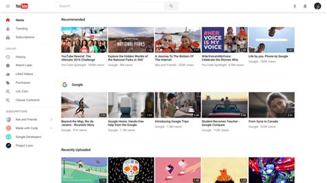 youtube layout changes reddit youtube rolls out new material design update and it s