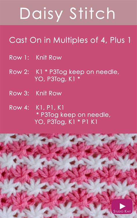 how do i make a stitch in knitting how to knit the flower stitch pattern studio knit
