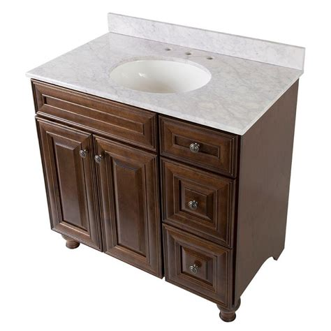 home depot home decorators vanity home decorators collection templin 37 in vanity in coffee