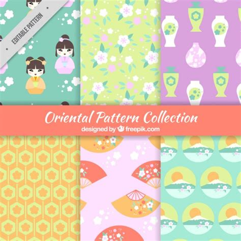 pattern collection download japanese patterns collection vector free download