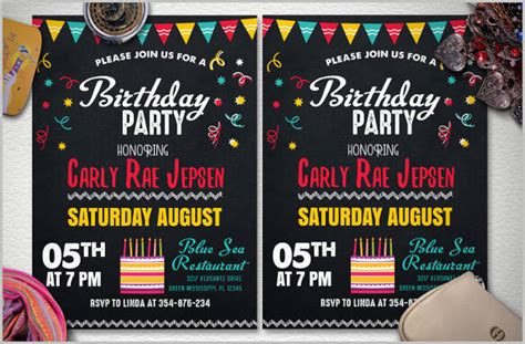 birthday invitation flyer template 35 invitation flyer designs design trends premium psd