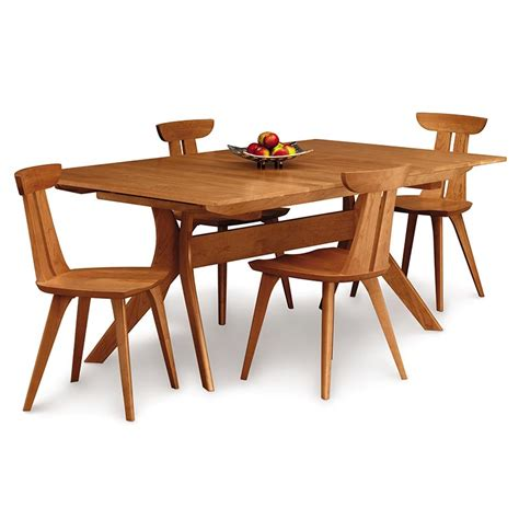 Dining Room Tables With Extension Copeland Cherry Extension Trestle Table Us Made