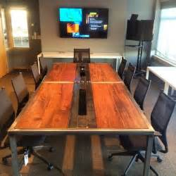 Industrial Boardroom Table Handmade Modern Industrial Conference Tables By K Modern Design Custommade