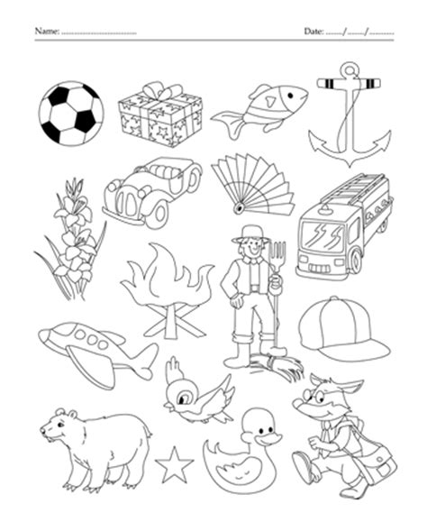colors that start with f things that start with letter f sketch coloring page