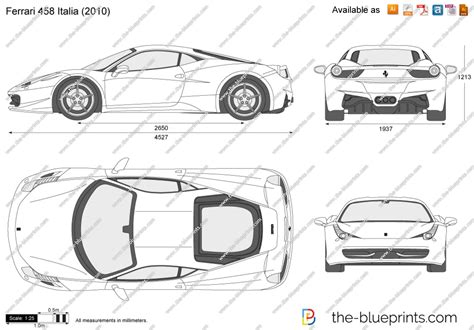 ferrari front drawing the blueprints com vector drawing ferrari 458 italia