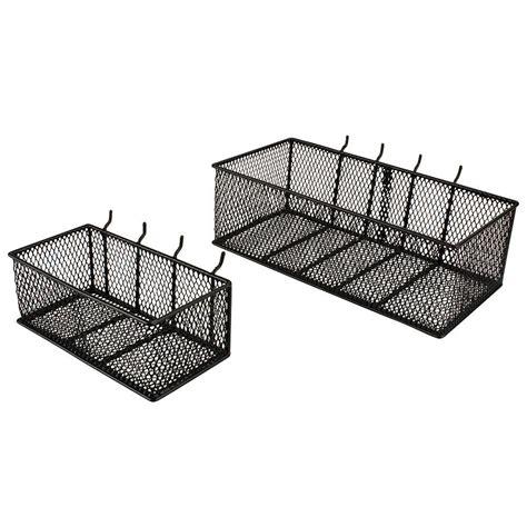 Diy Pegboard by Steel Mesh Pegboard Basket In Black 2 Pack 24265 The