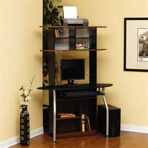sauder corner computer tower silver and black walmart