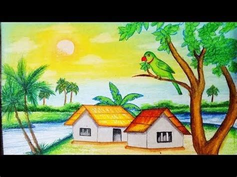 how to draw a boat with oil pastels the 25 best easy scenery drawing ideas on pinterest