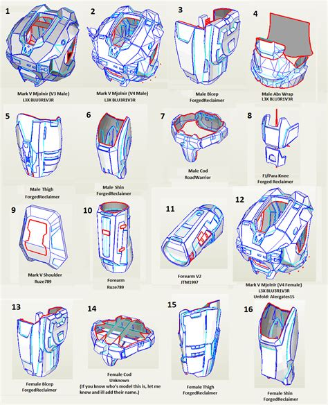 L3x S File Database Halo Costume And Prop Maker Community 405th Halo Foam Templates
