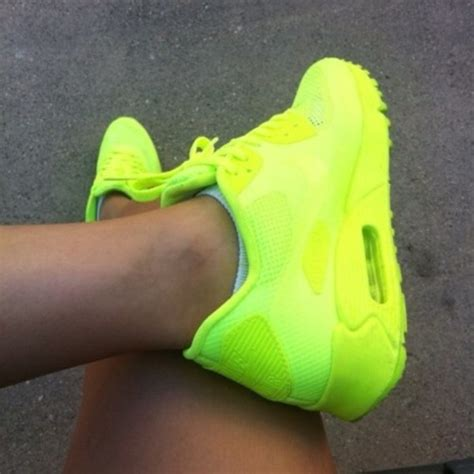 neon sneakers nike shoes neon neon green nike air max sneakers wheretoget