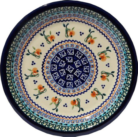 polish pottery dinner plate pattern number 233ar zaklady ceramiczne boleslawiec polish pottery dinner