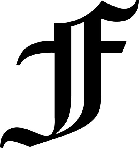 Old English Letter F Initial Decal 5 75 Quot Choose Color Ebay