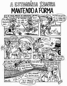 """Histérica História: HQ A Estagiária Isaura """"Mantendo a"""