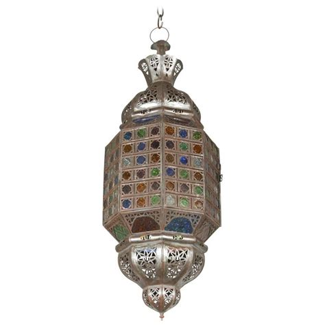 moroccan light fixtures moroccan crafted light fixture with multicolor glass