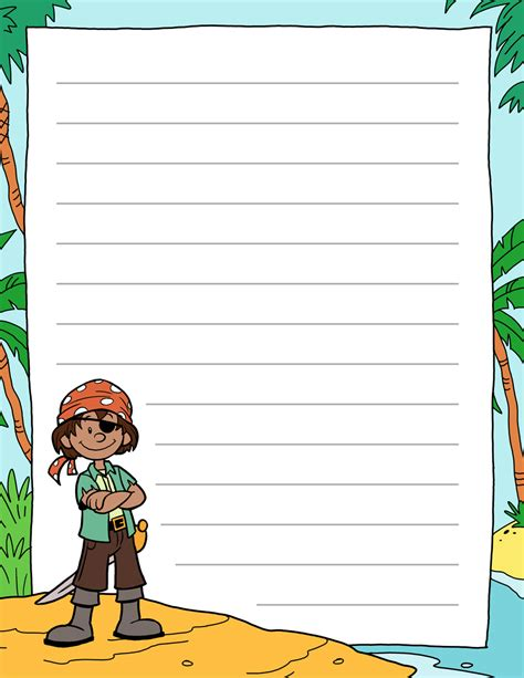 pirate paper template tim de vall comics printables for