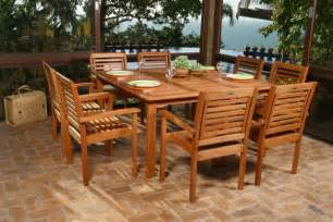 Wooden Patio Dining Sets Wood Outdoor Furniture At The Galleria