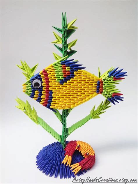 How To Make 3d Origami Fish - 1000 images about 3d origami en cisne de