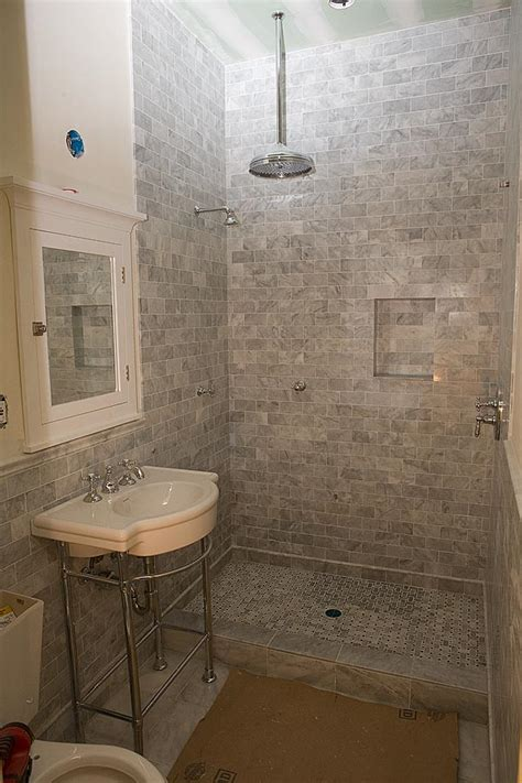 subway tile bathroom shower marble subway tile shower offering the sense of elegance homesfeed
