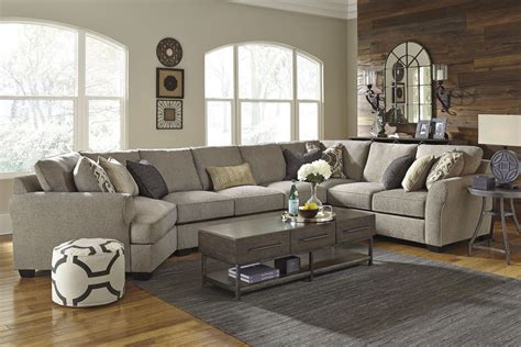 Loveseat With Chaise by Pantomine Driftwood Laf Large Cuddler Sectional From
