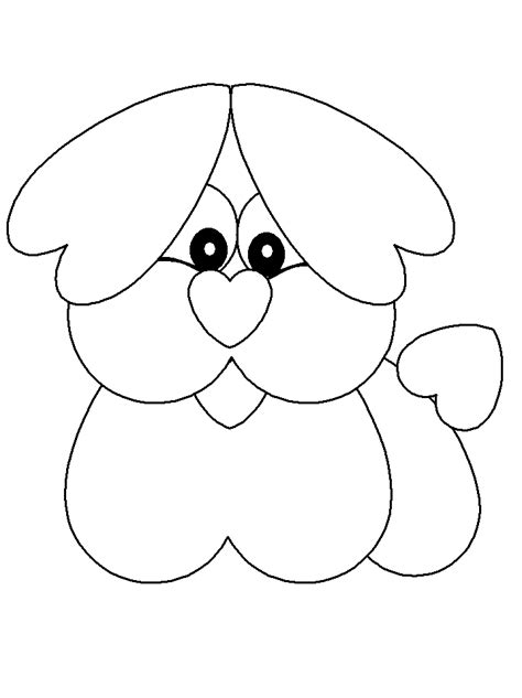 valentine dog coloring page heart animal colouring pages