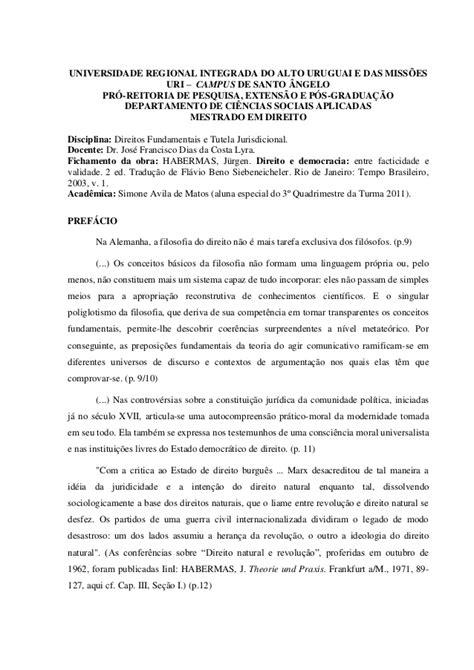 Fichamento Habermas_ direito e democracia